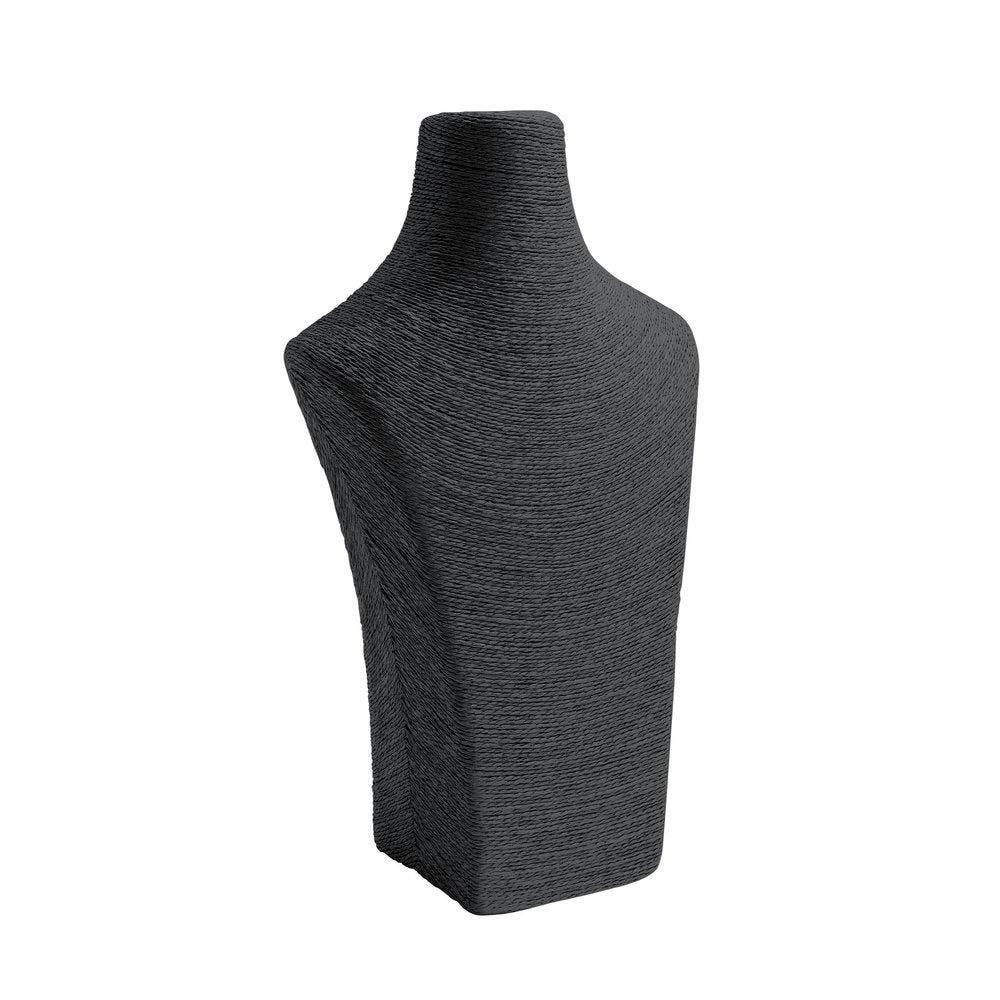 Porte colliers buste noir L22 x P14 x H36cm