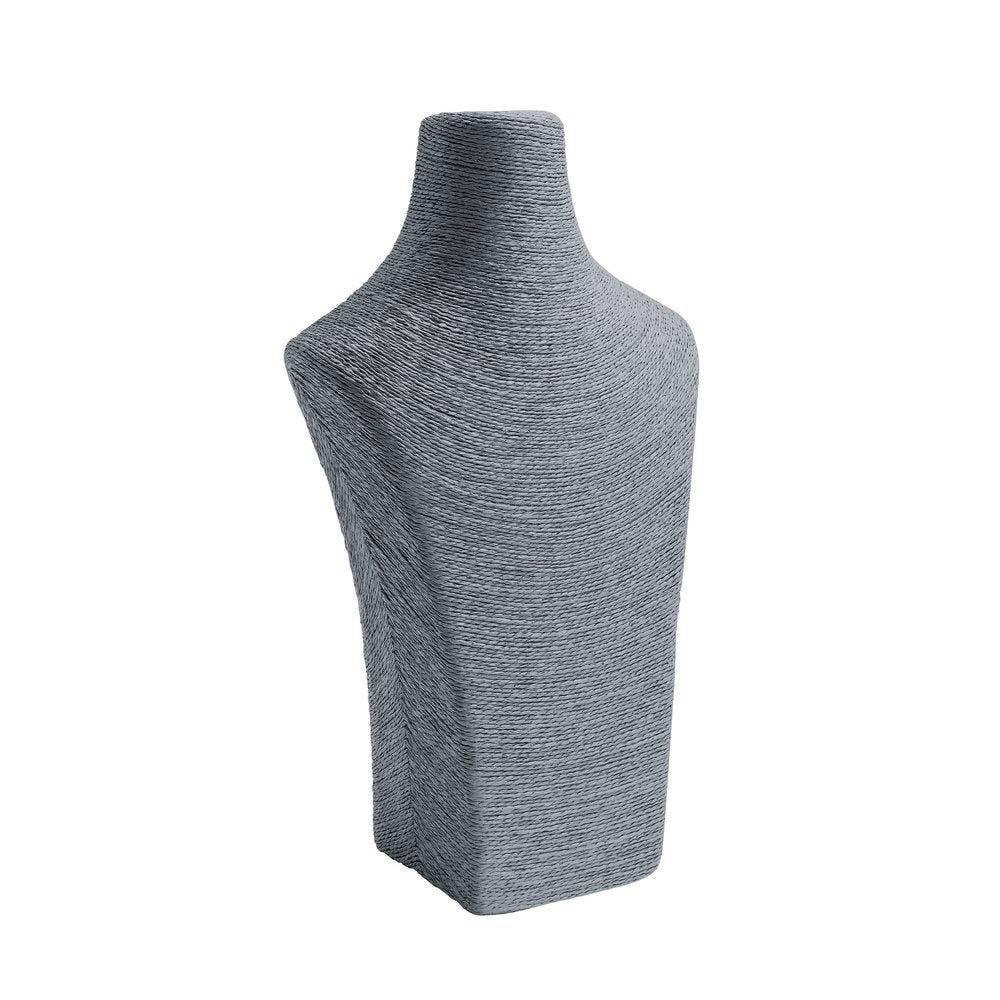 Porte colliers buste gris L22 x P14 x H36cm
