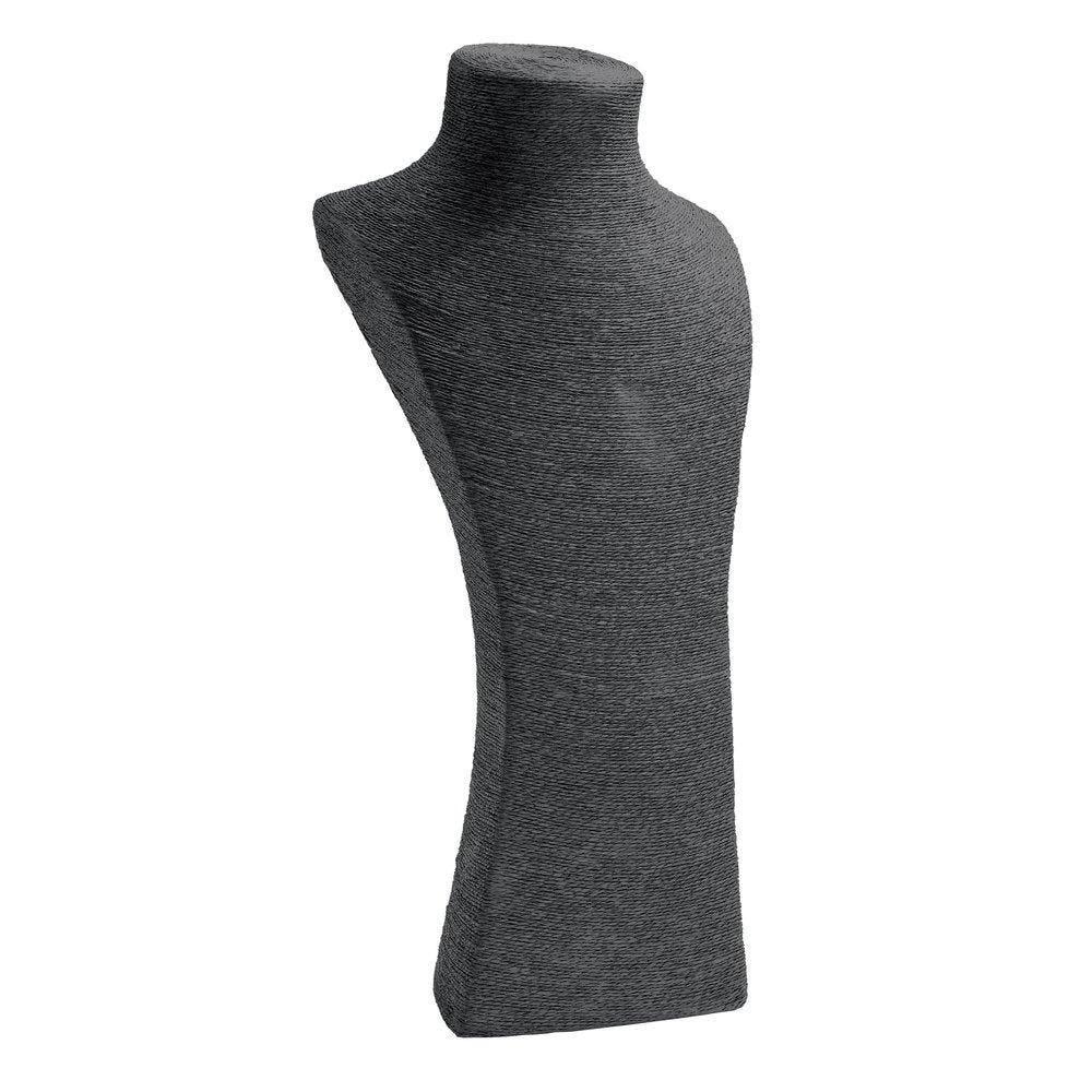 Porte colliers buste noir L20 x P21 x H48cm