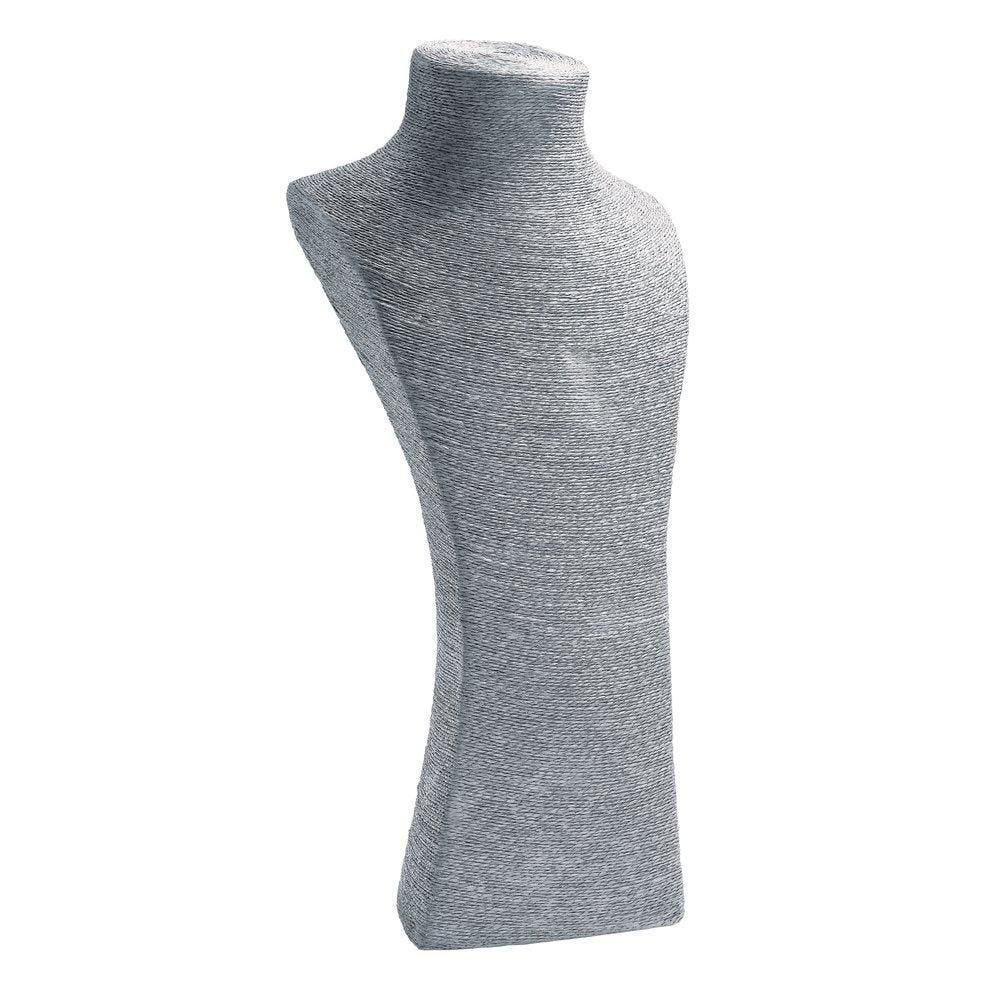 Porte colliers buste gris L20 x P21 x H48cm