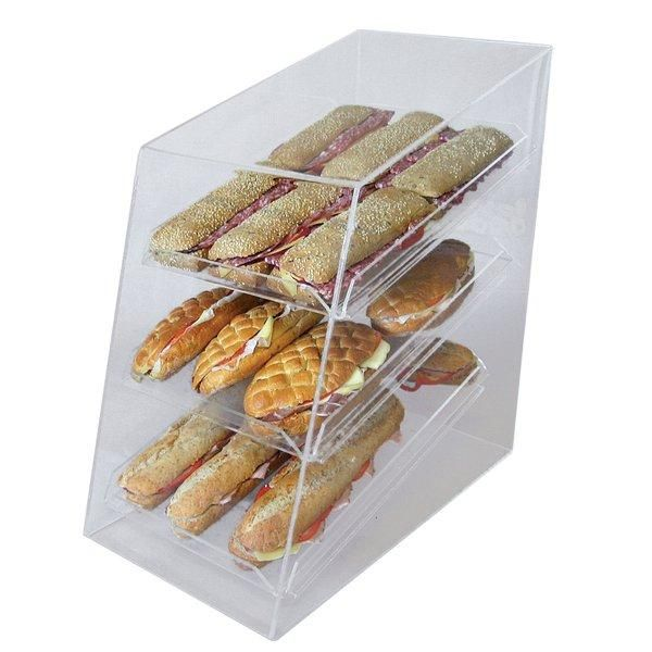 Vitrine de protection 3 plateaux  transparent  L27 x P50 x H52cm (photo)