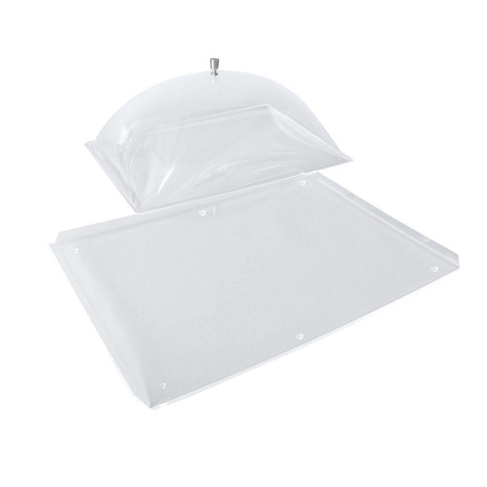 Cloche de protection transparent avec plateau L.44xP.34xH.19 cm (photo)