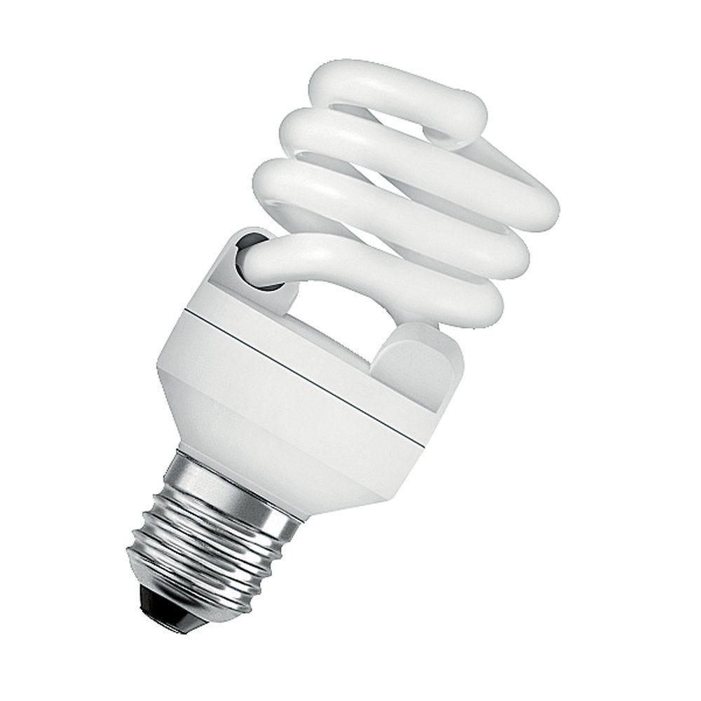 Lampe fluo compacte spirale 20W 230 V   E27 (photo)