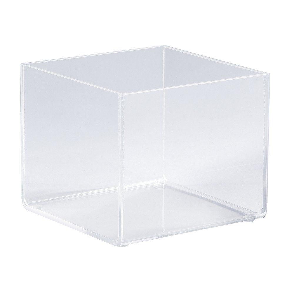 Bac de présentation plexi carrée12x12x10cm (photo)