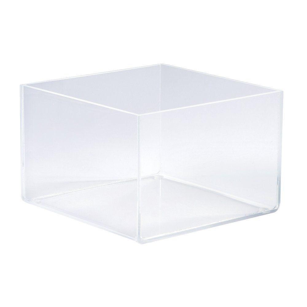 Bac de présentation plexi carré 15x15x10cm (photo)