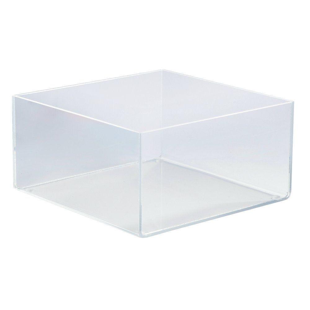 Bac de présentation plexi carré 20x20x10cm (photo)