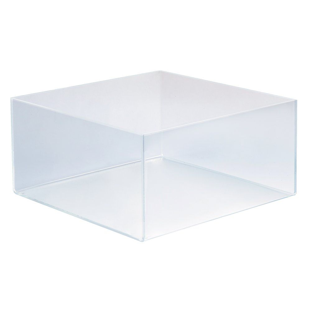 Bac de présentation plexi carré 30x30x15cm (photo)