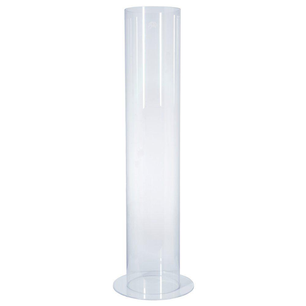 Tube de présentation plexi rond + porte affiche Ø20cm H100cm (photo)