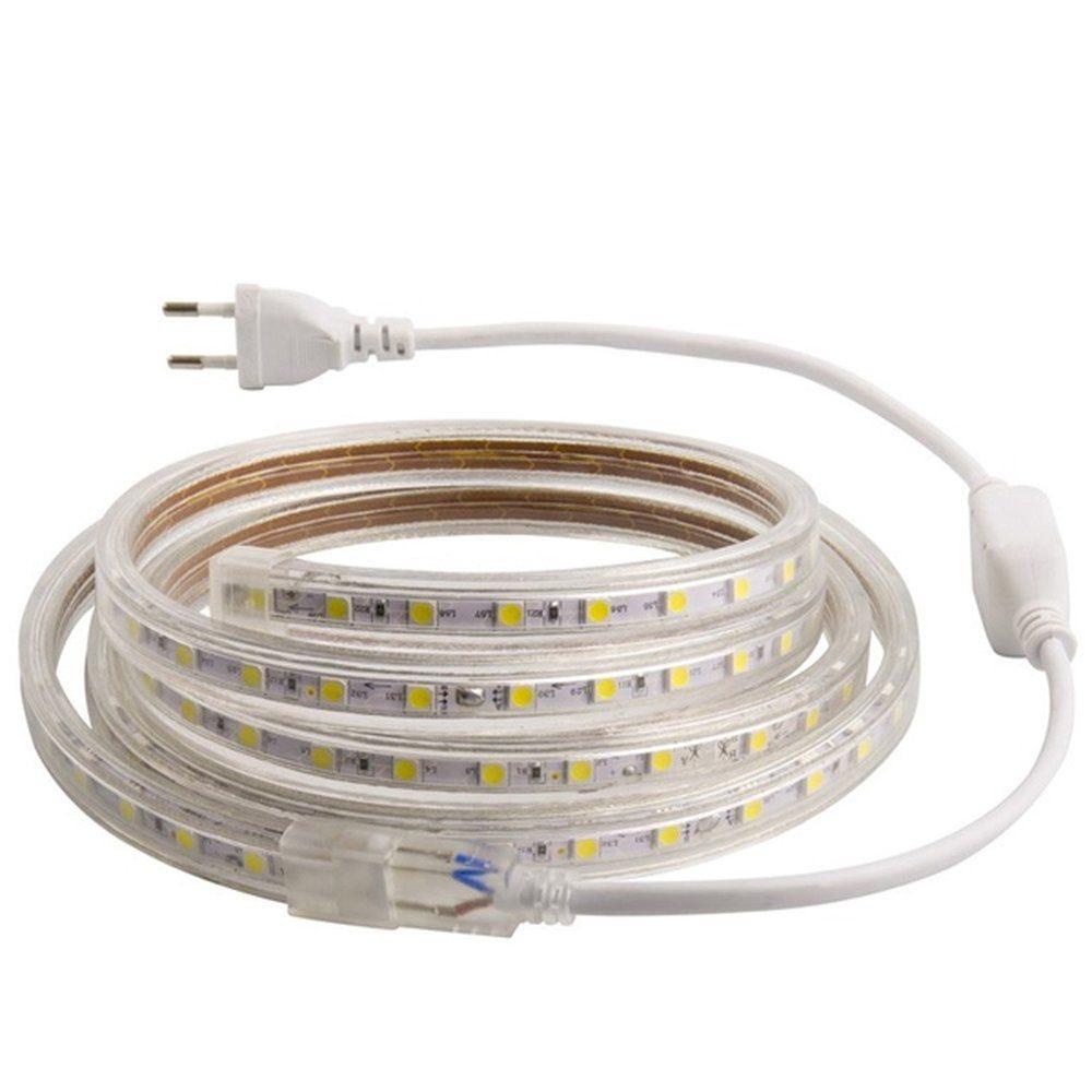 Ruban led 4000°k  ip65 220 volts 60 led/m 4 mètres (photo)