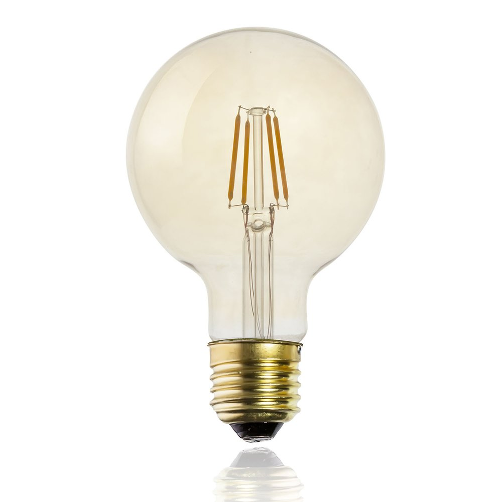 Ampoule LED ambre droit G95 E27 (photo)