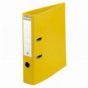 Classeur levier a4 pp jaune - dos 8 cm (photo)