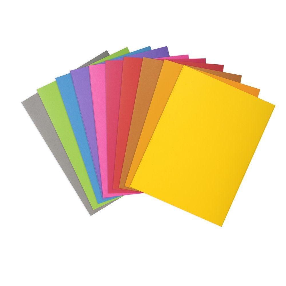 Sous-chemises 22 x 31 cm coloris assortis 80 grammes- par 100 (photo)