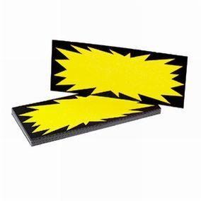 Etiquette jaune fluo 35 x 90 mm (photo)