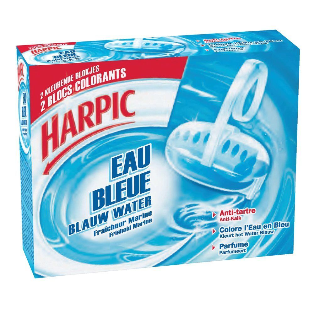 Bloc cuvette Harpic Eau bleue - par 2 (photo)