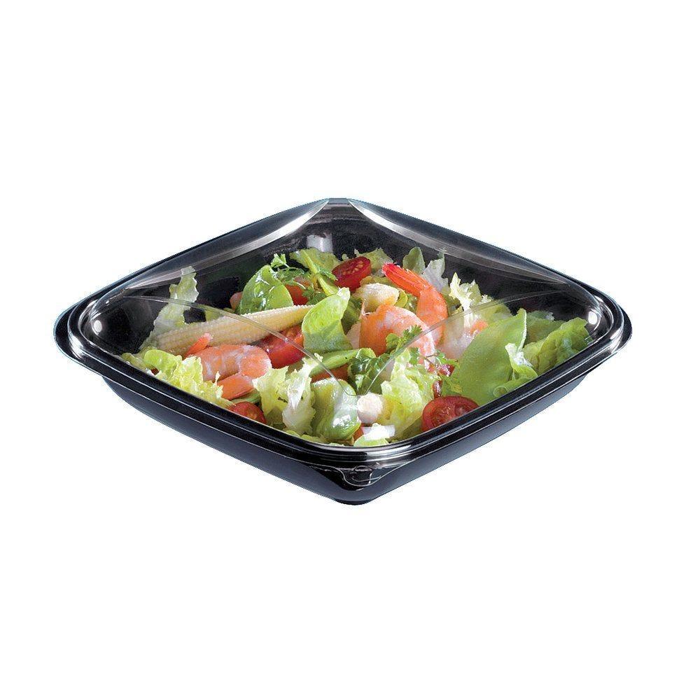 Assiette avec couvercle séparé crudipack 750cc - par 70 (photo)