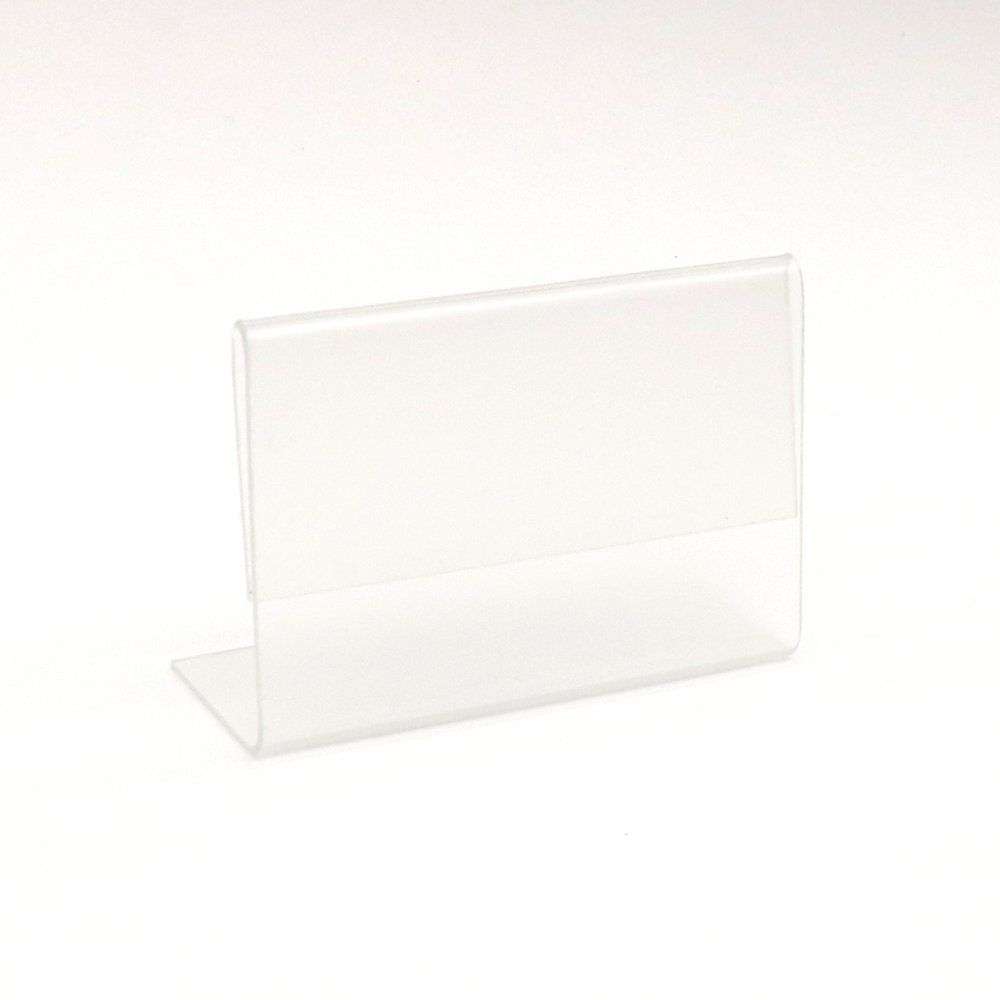 Chevalet transparent pour étiquettes 8x6cm - par 10 (photo)