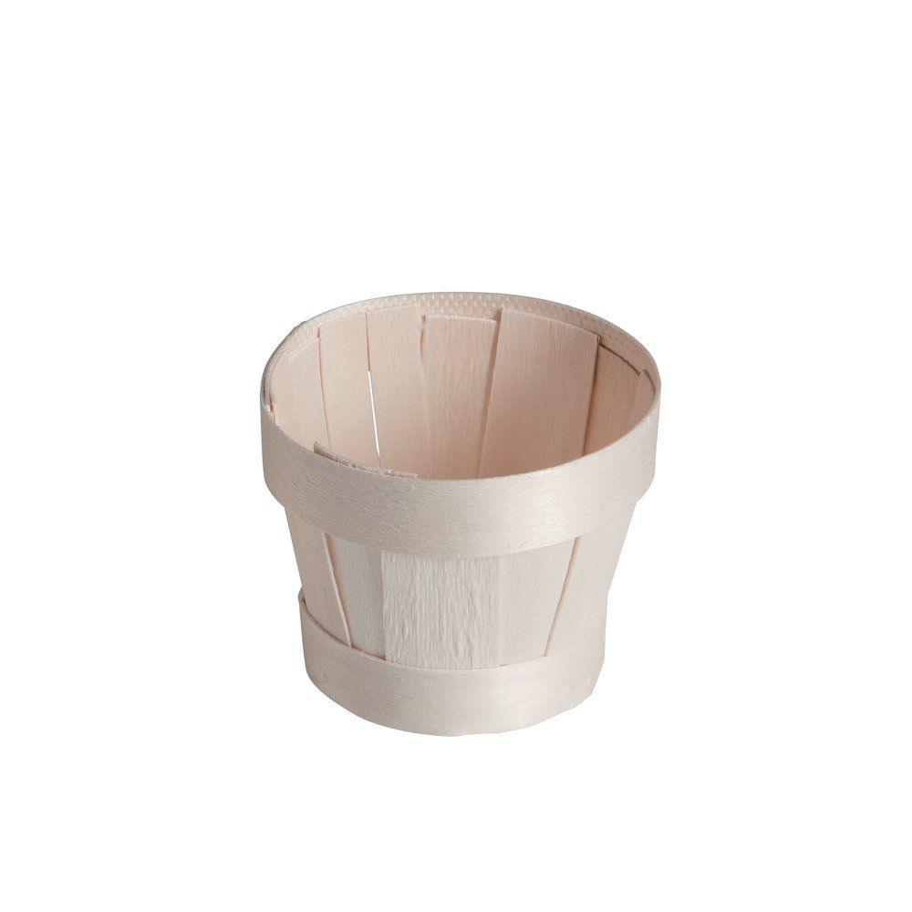 Panier bois rond 8.8 x 7.3cm - par 10 (photo)