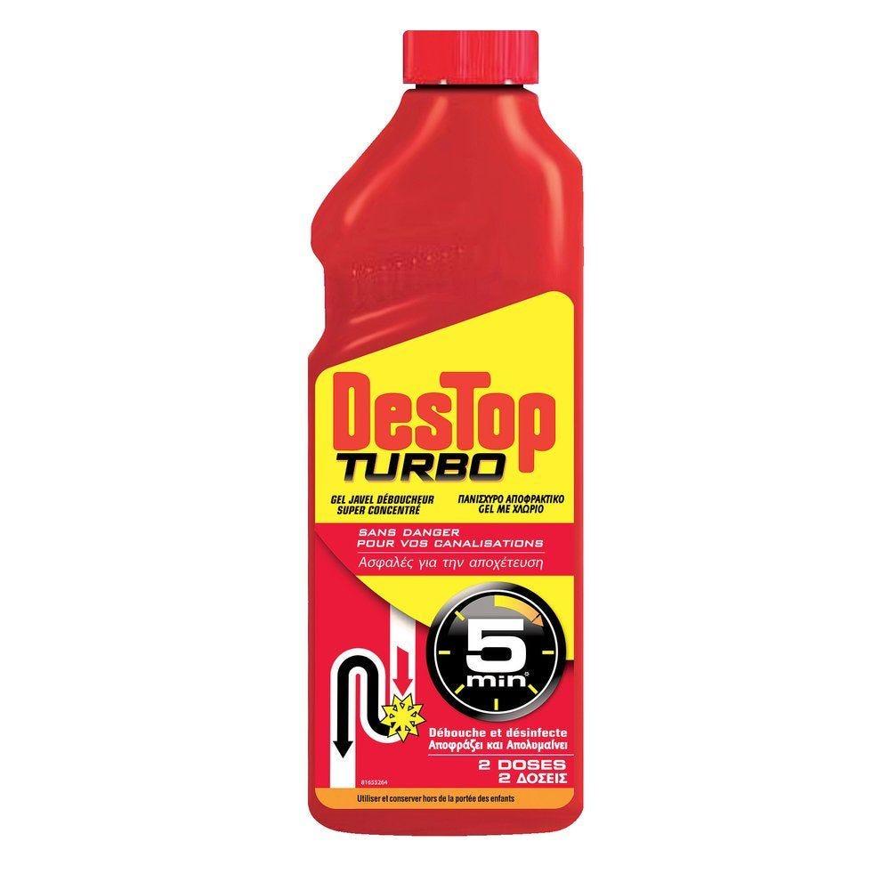 Déboucheur gel javel Destop turbo 1L