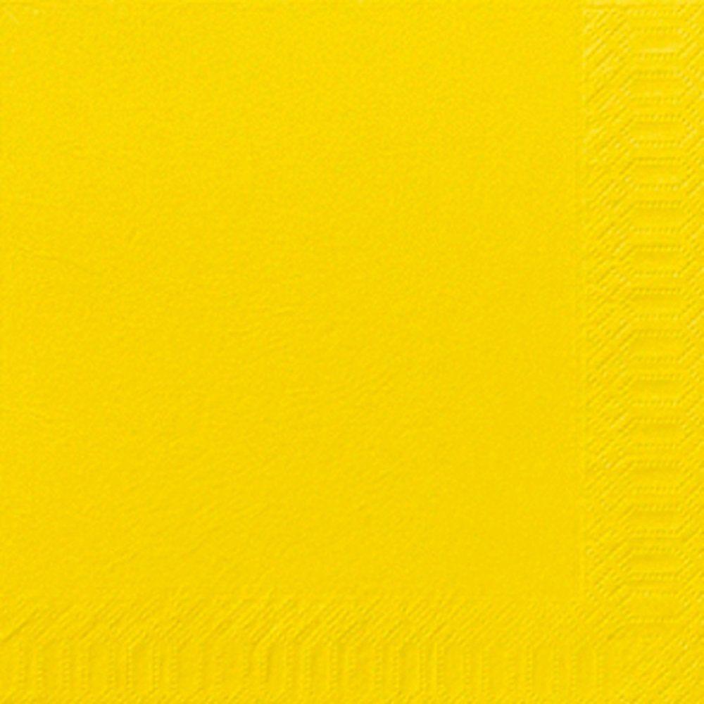 Serviettes ouate jaune 2 plis 40x40cm - par 125