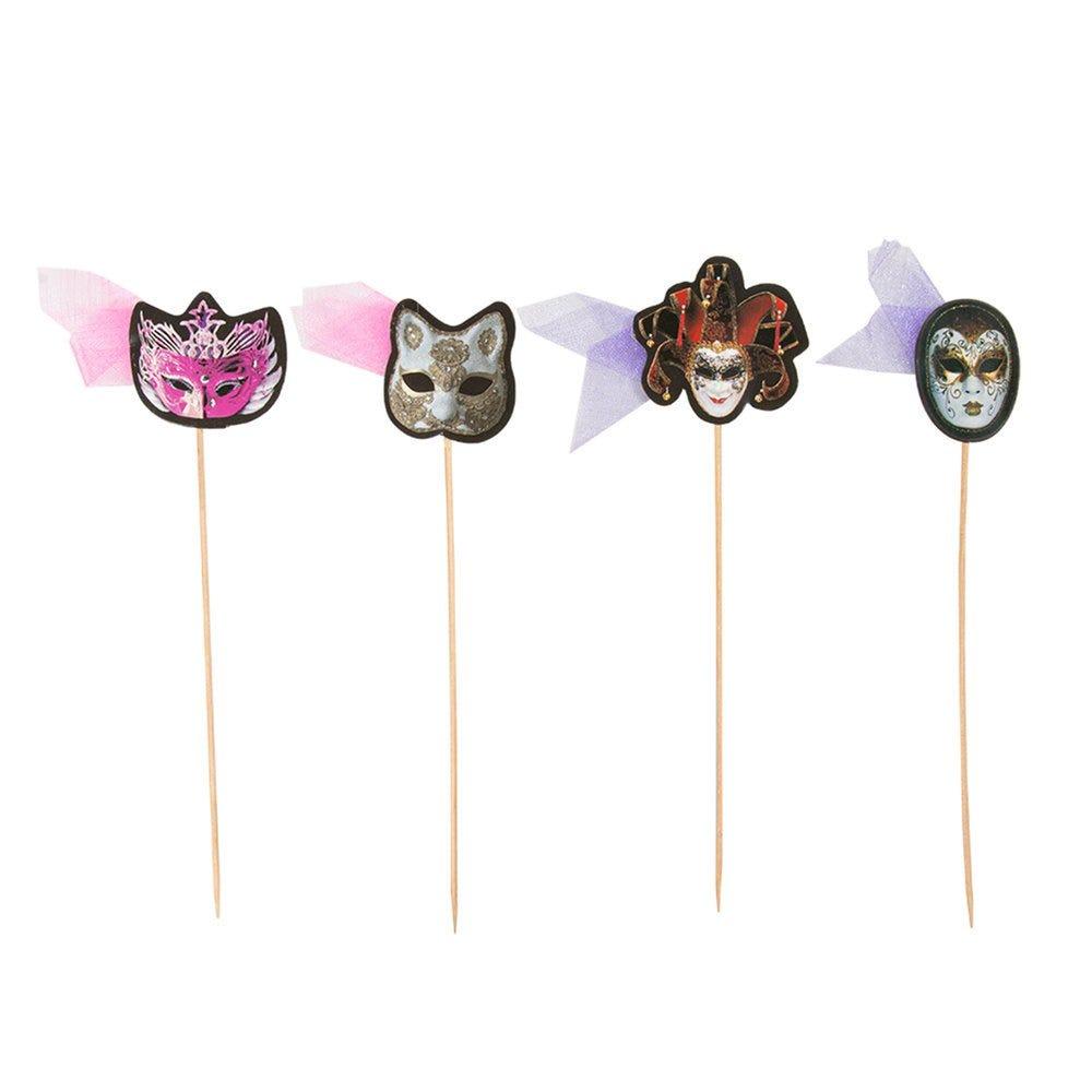 Décors assortis pour glaces Masques bois 18cm - par 100