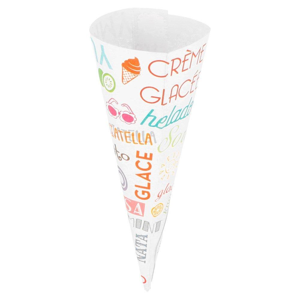 Cône pour glaces carton Parole Ø7x11,5cm - par 3000