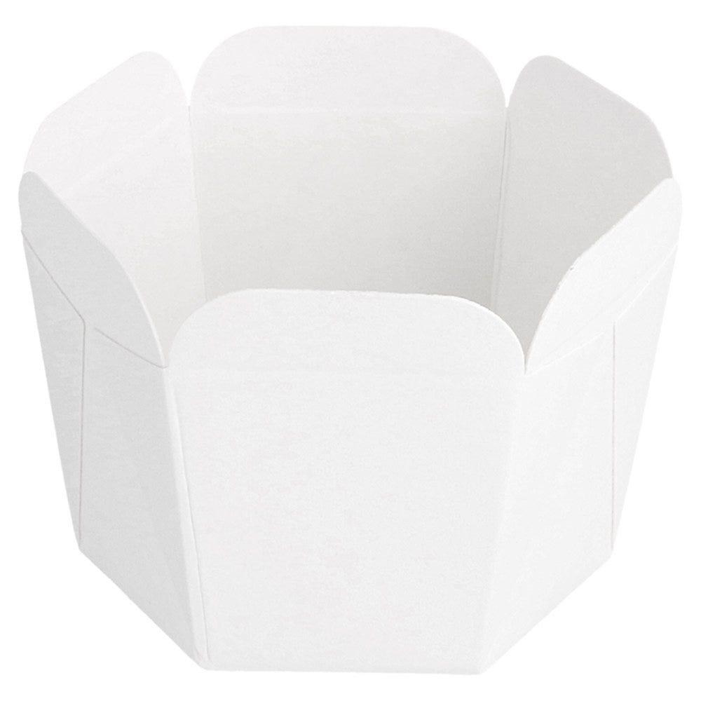 Barquette carton blanc festonné 100ml 5x5x5cm - par 100