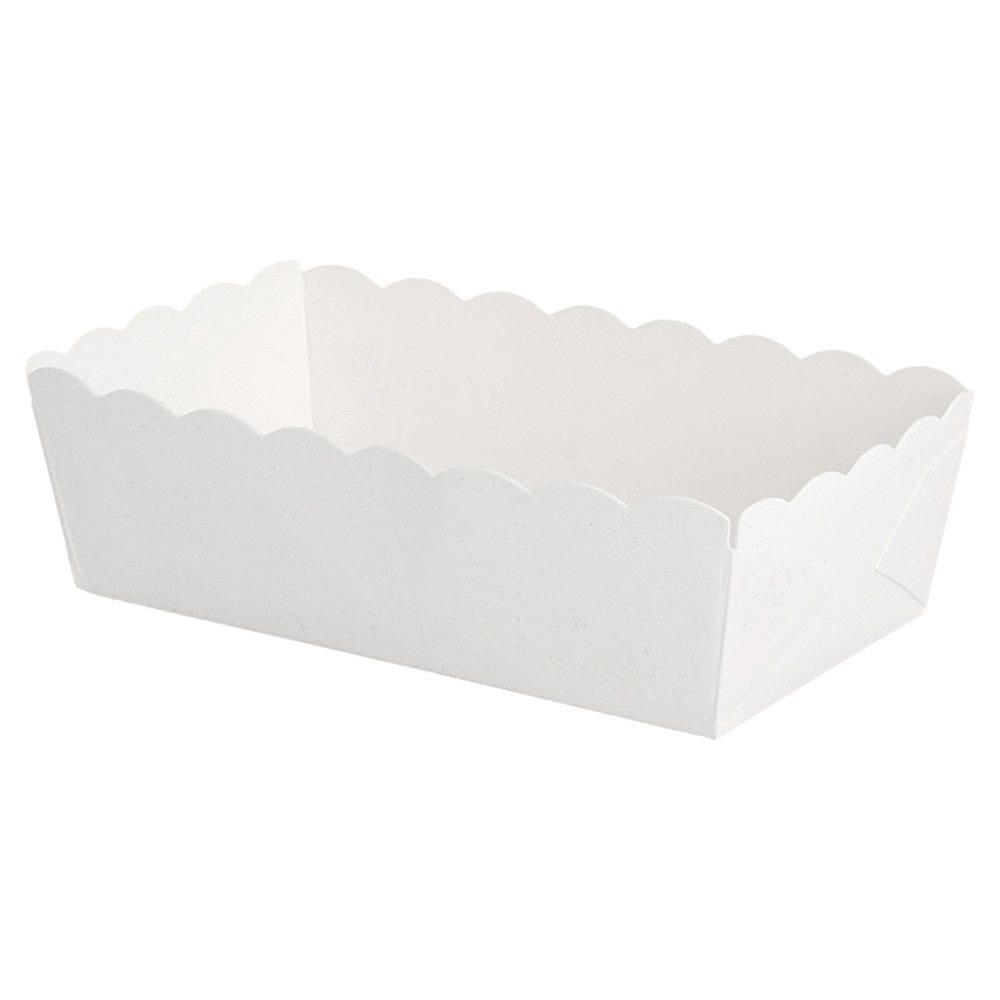 Barquette carton blanc 9x5x3,2cm - par 4000
