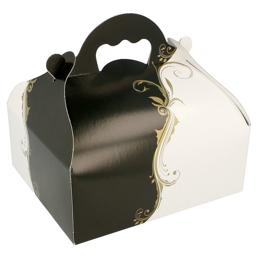 Boîte pâtissière à poignée Baroque 16x18x7cm - par 50