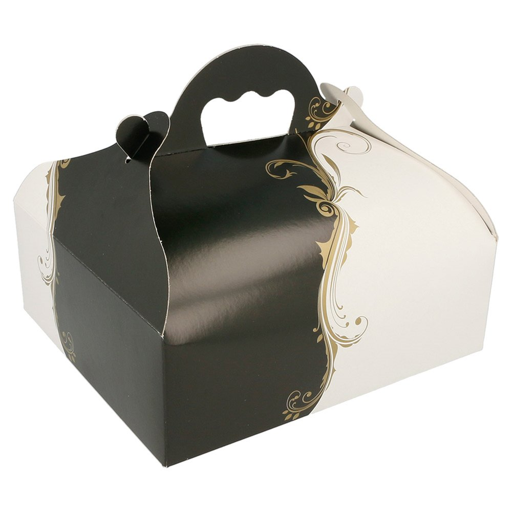 Boîte pâtissière à poignée Baroque 20x18x7cm - par 50
