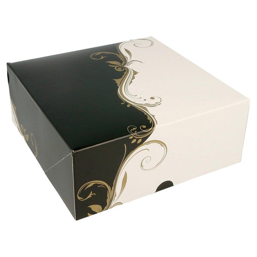 Boîte pâtissière Baroque 18x18x7,5cm - par 50