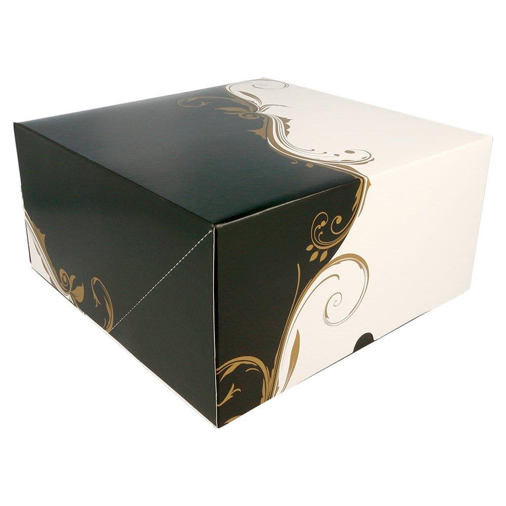Boîte pâtissière Baroque 24x24x12cm - par 50