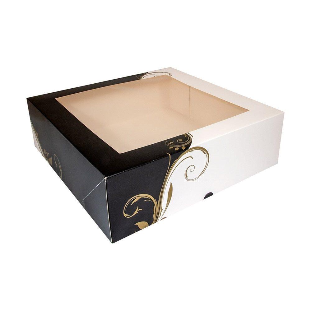 Boîte pâtissière à fenêtre Baroque 32x32x10cm - par 50