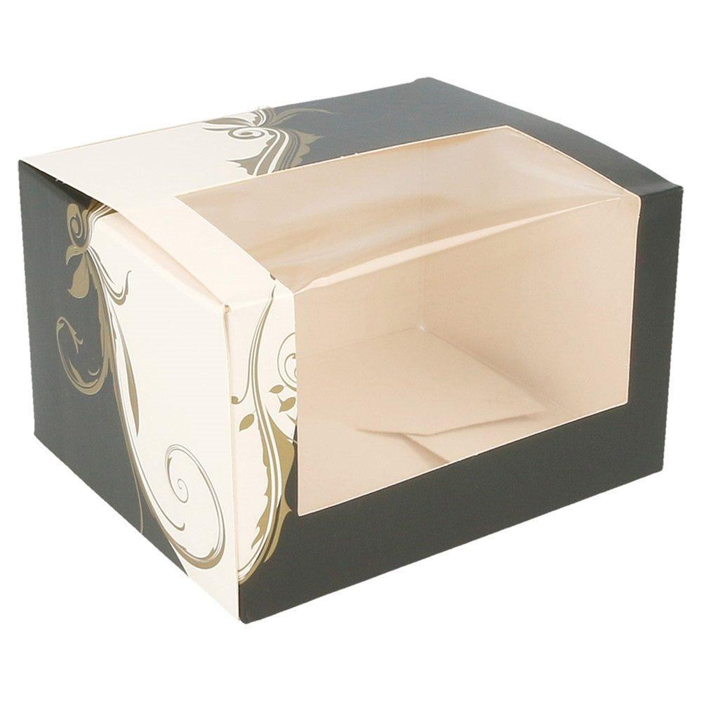 Boîte pâtissière à fenêtre Baroque 11x13x8cm - par 50