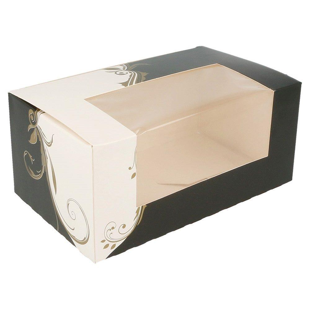 Boîte pâtissière à fenêtre Baroque 18x11x8cm - par 50