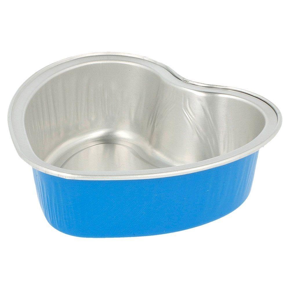 Contenant aluminium bleu 100ml 8,8x8,8x3cm - par 100