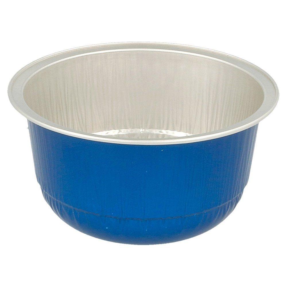 Contenant aluminium bleu 150ml Ø8,5x4,3cm - par 100