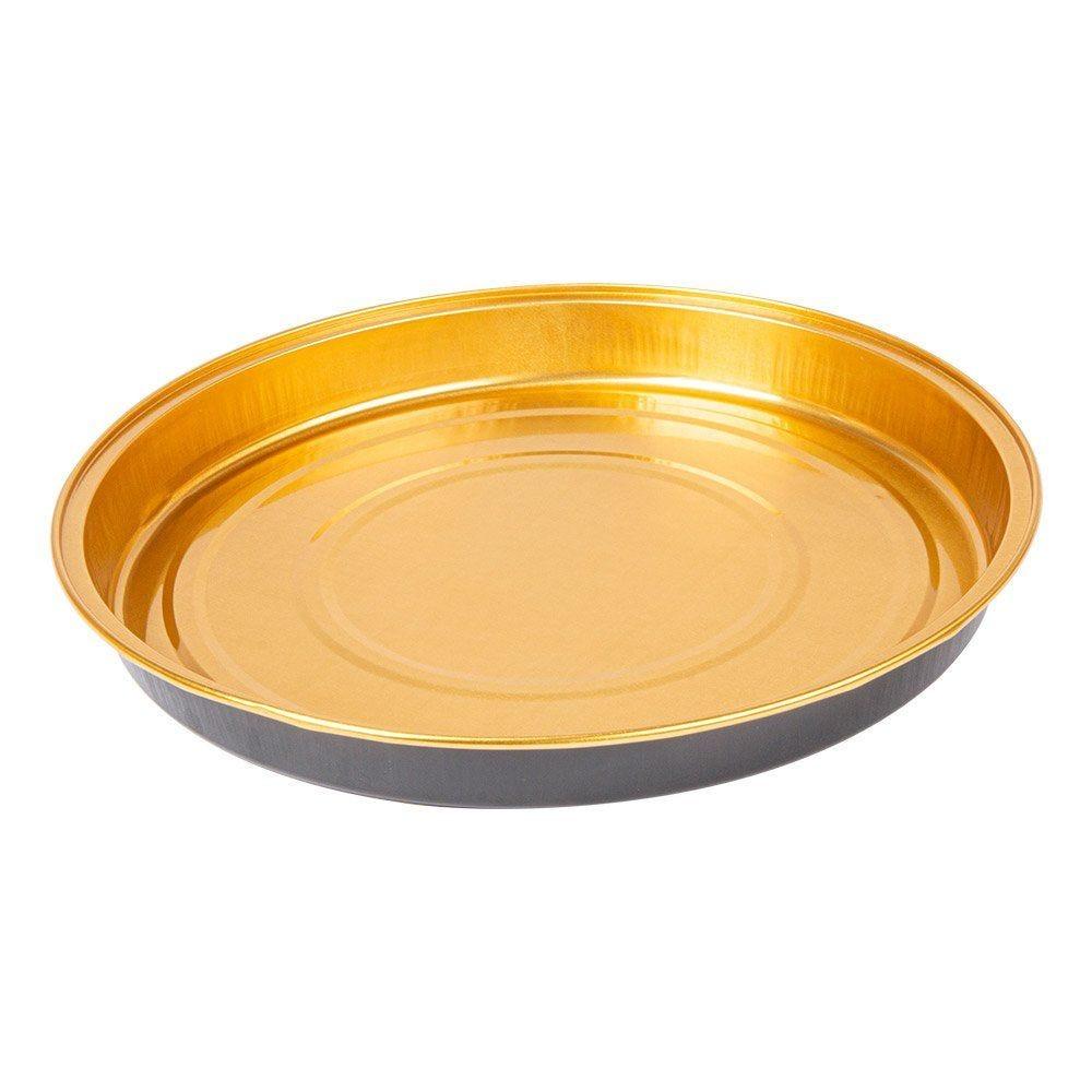 Moule tarte aluminium or/noir 900ml Ø24,2x2,7cm - par 50
