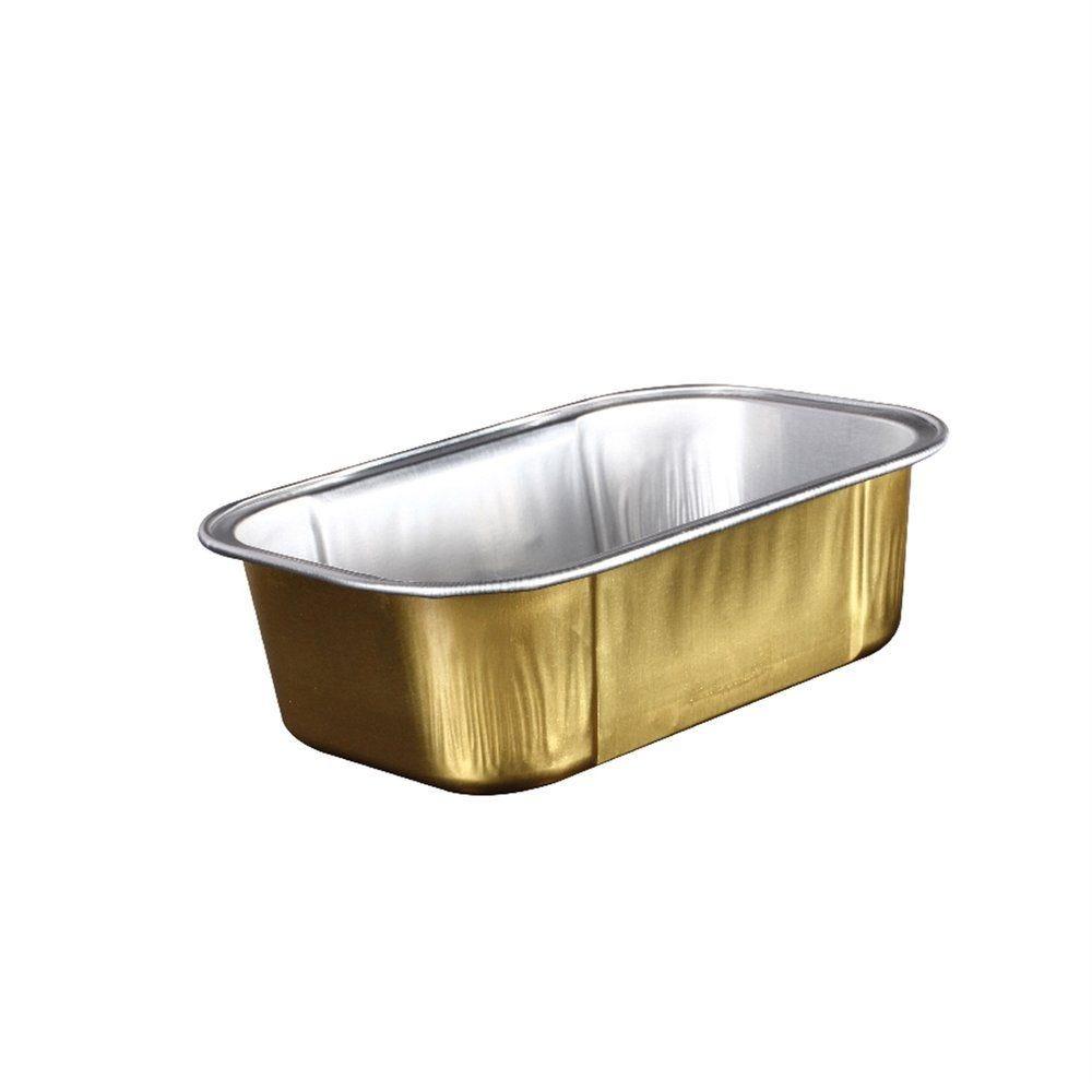 Contenant aluminium argent/or 168ml 10,8x7,2x3,3cm - par 100