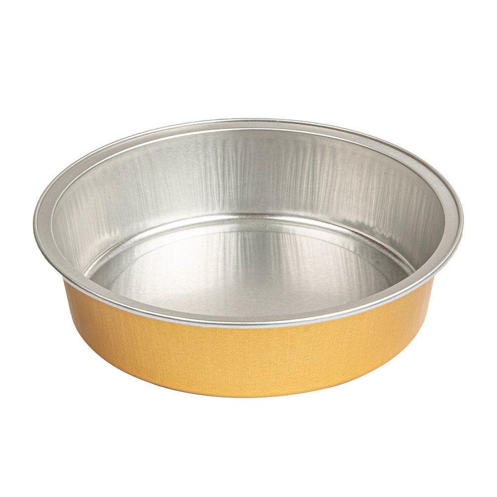 Moule tartelette aluminium argent/or 215ml Ø11,8x3cm - par 100