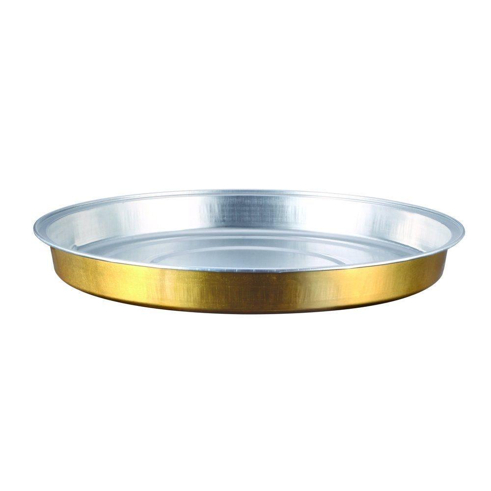 Moule tarte aluminium argent/or 900ml Ø24,2x2,7cm - par 50