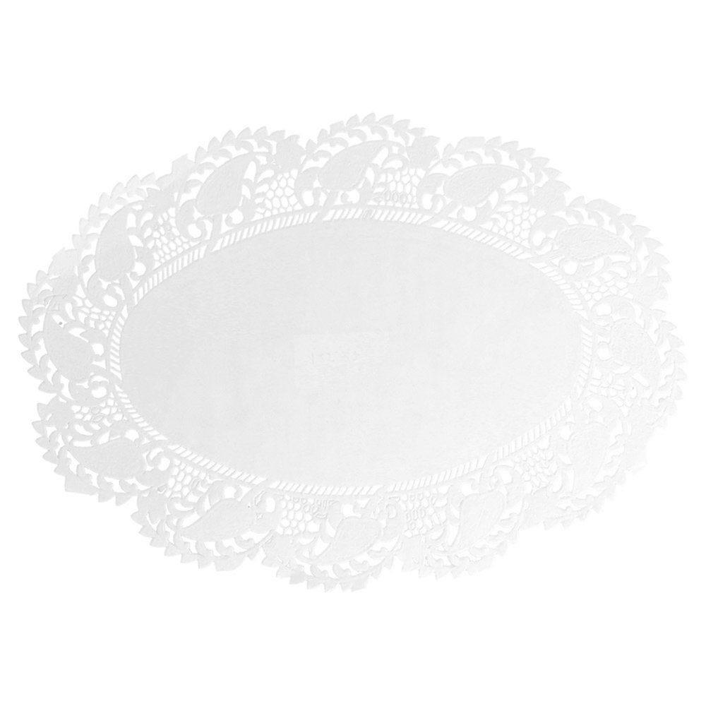 Dentelle ovale papier blanc 27x18cm - par 250