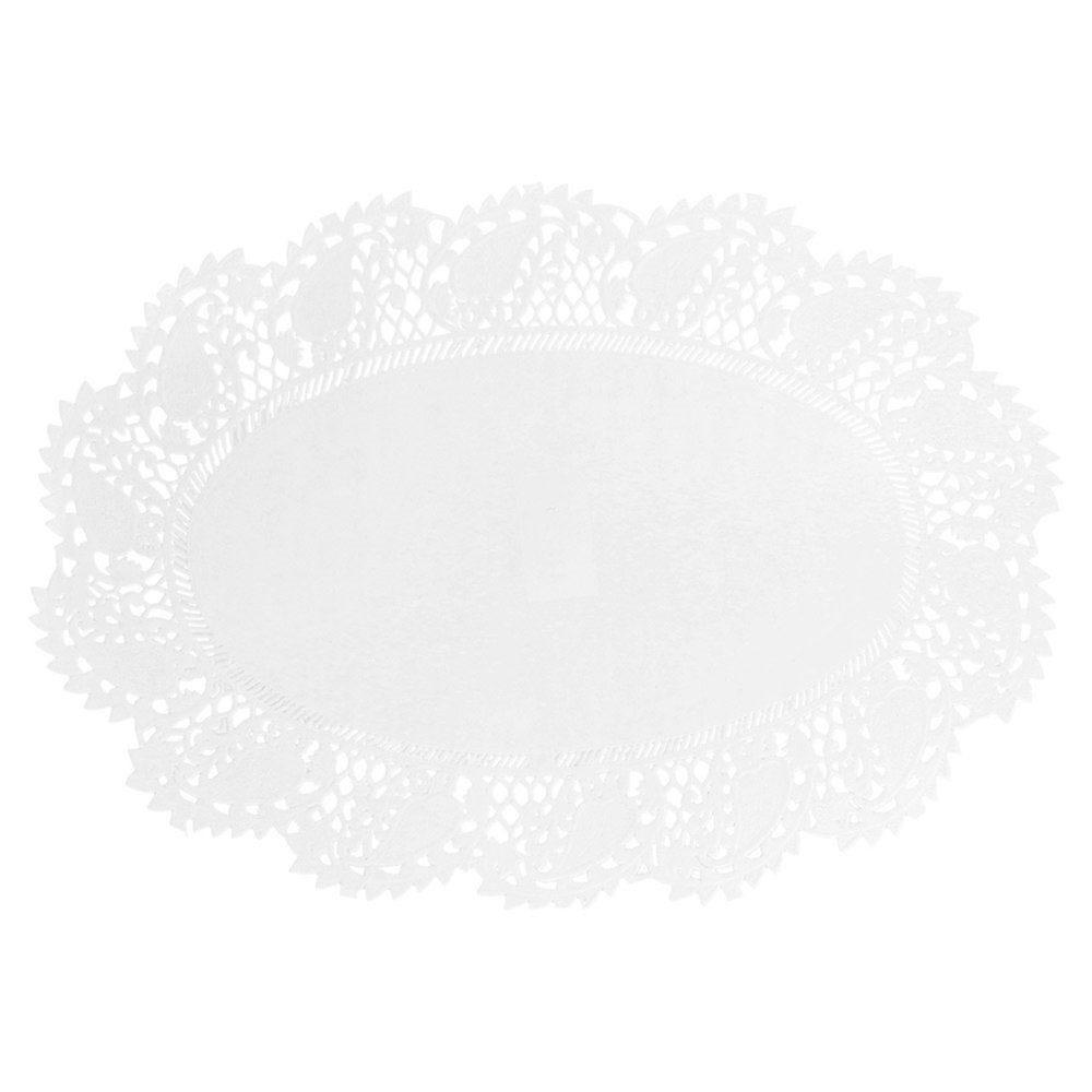 Dentelle ovale papier blanc 32x22cm - par 250