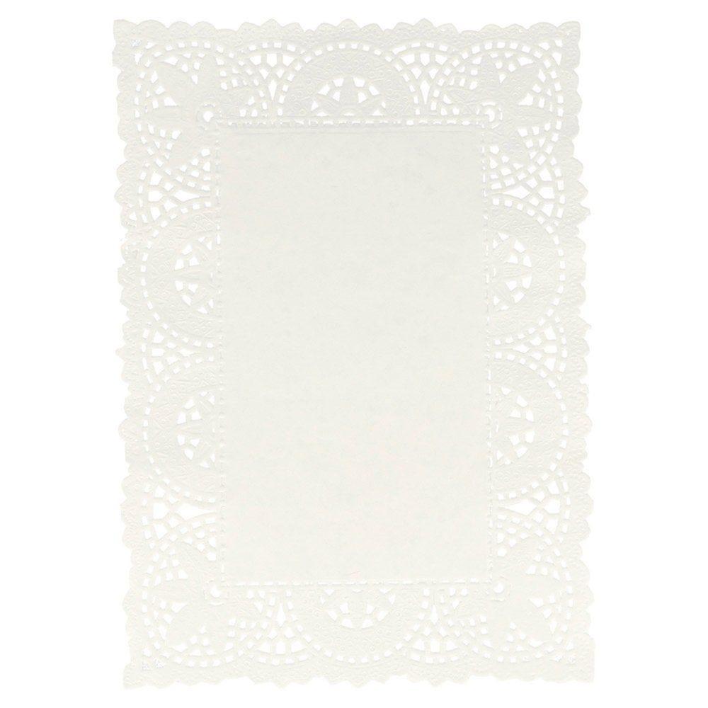 Dentelle papier blanc 21x15cm - par 250