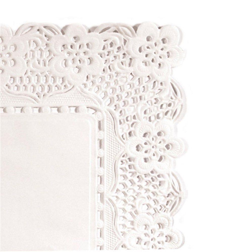Dentelle papier blanc 30x18cm - par 250