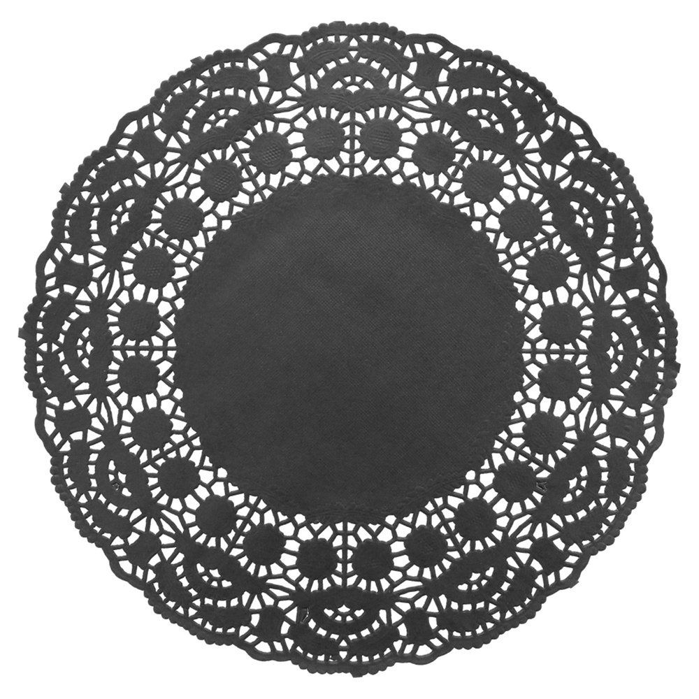 Dentelle papier noir Ø24cm - par 250