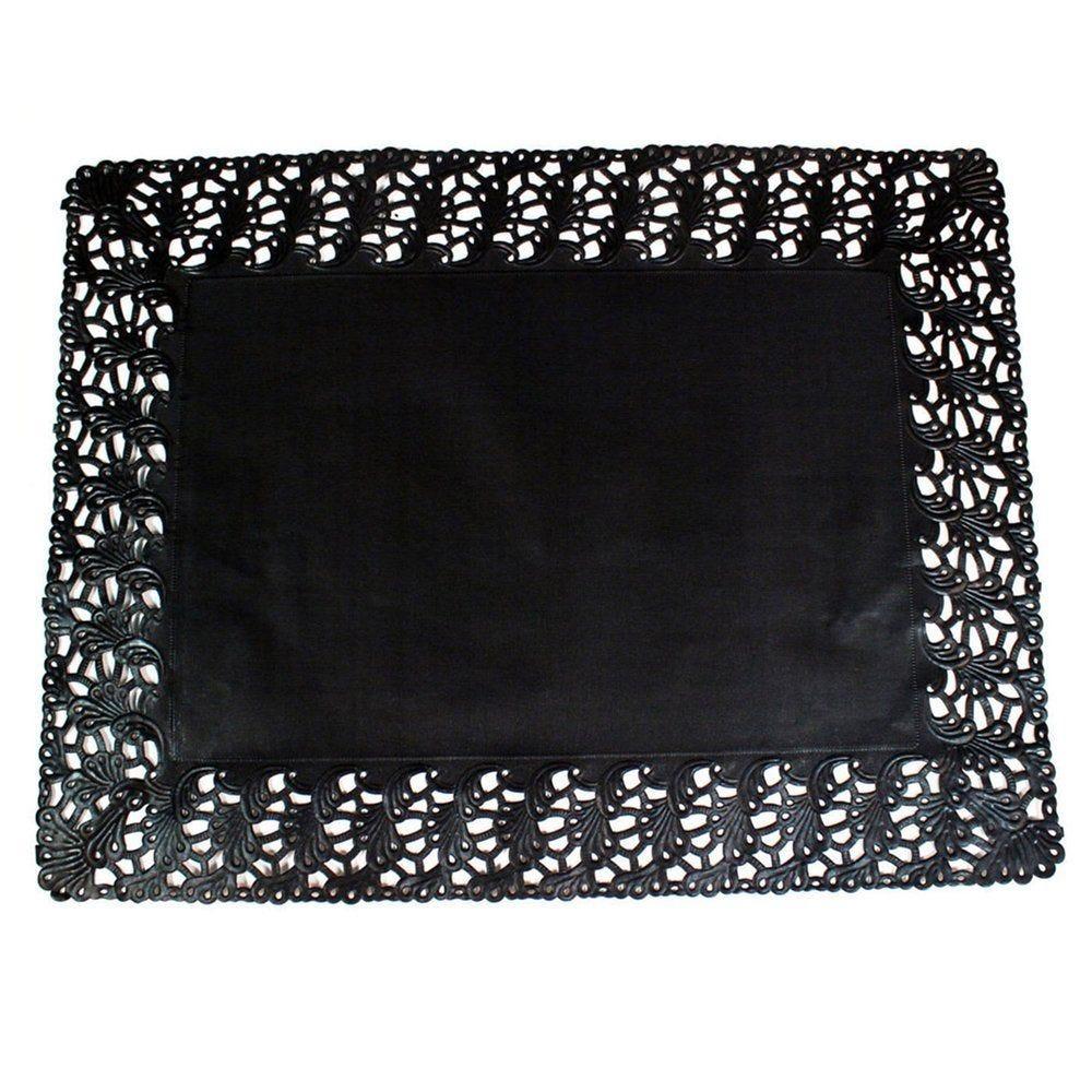 Dentelle papier noir 45x36cm - par 250