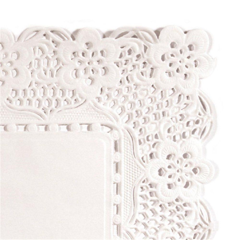 Dentelle papier blanc ingraissable 40x30cm - par 250