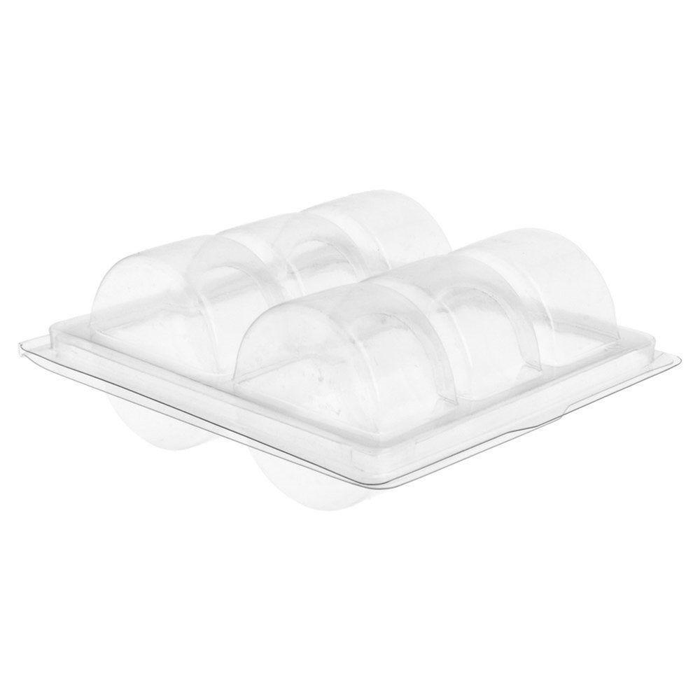 Blister PET transparent 6 macarons 13,5x12,7x5cm - par 200