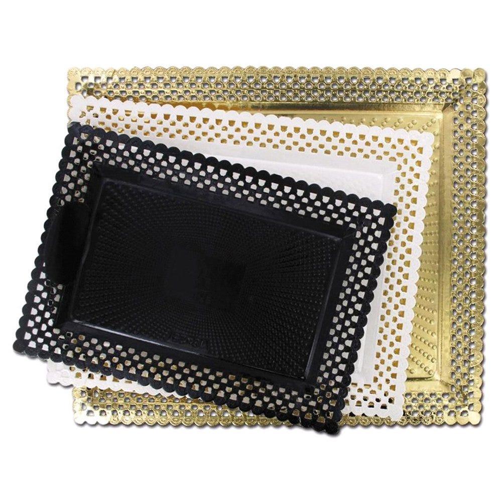 Support gâteau carton dentelé noir 22x27cm - par 100