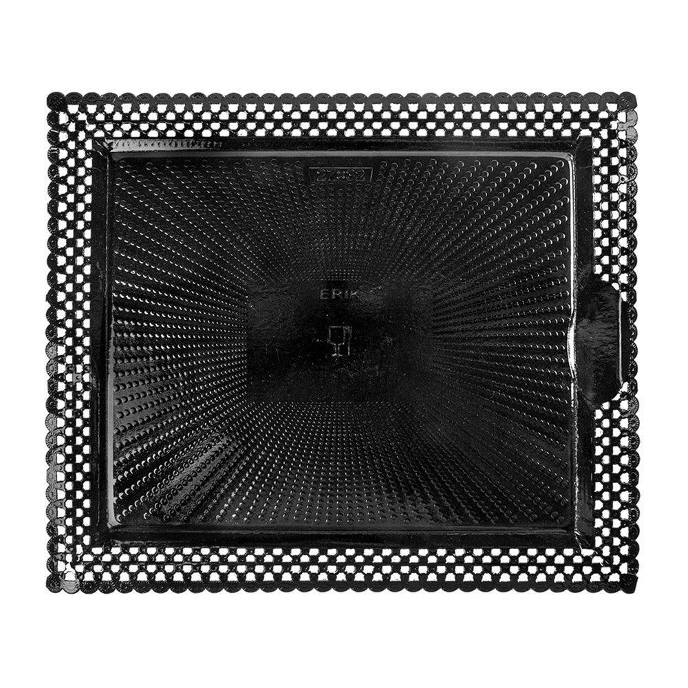 Support gâteau carton dentelé noir 27x32cm - par 100